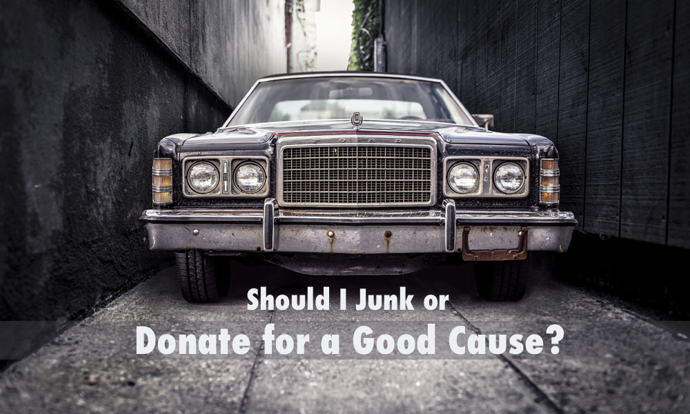 Should I junk my car or donate it? - Harold\'s Car Donation Service